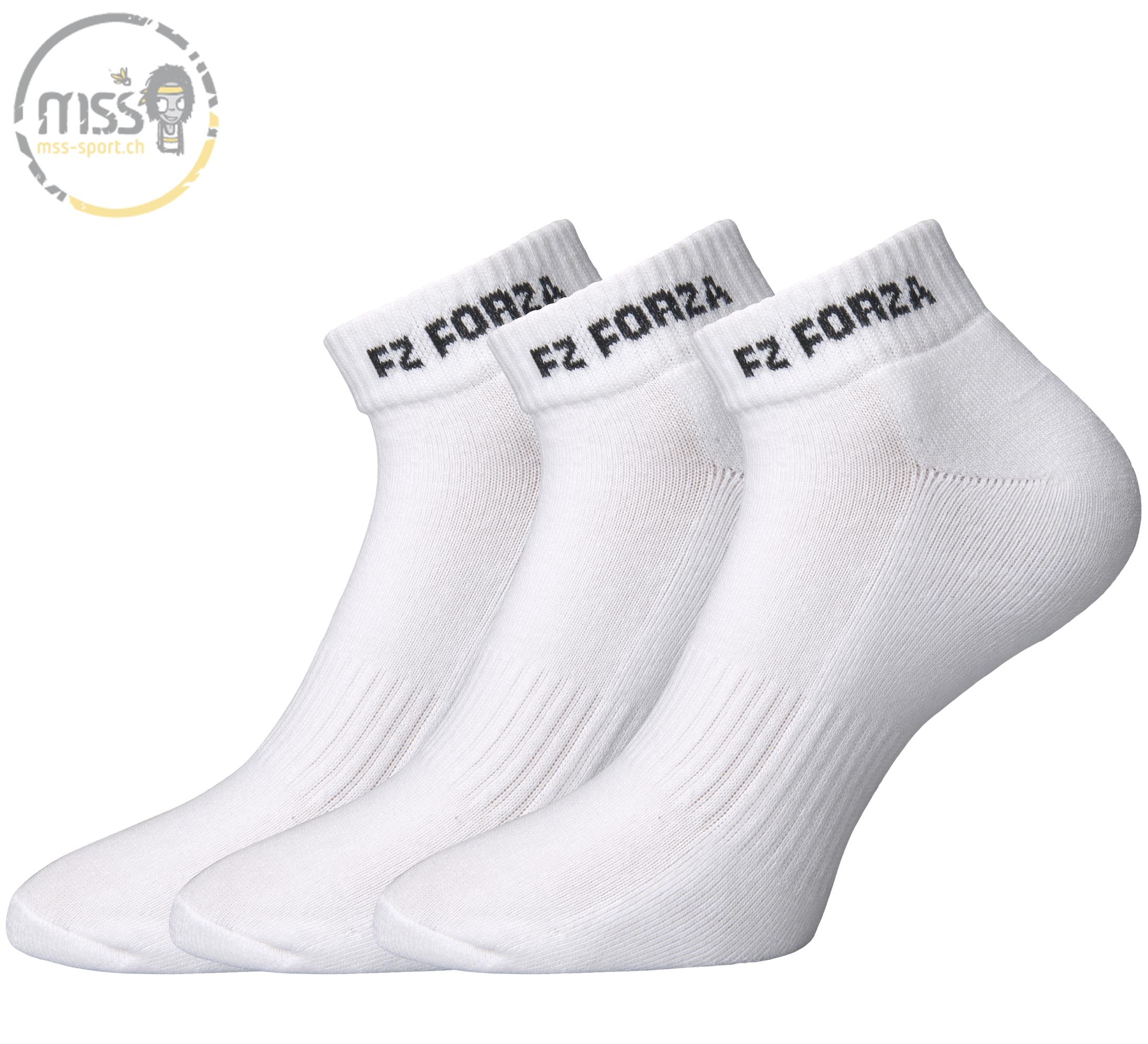 Forza Sock Comfort short white 3pack