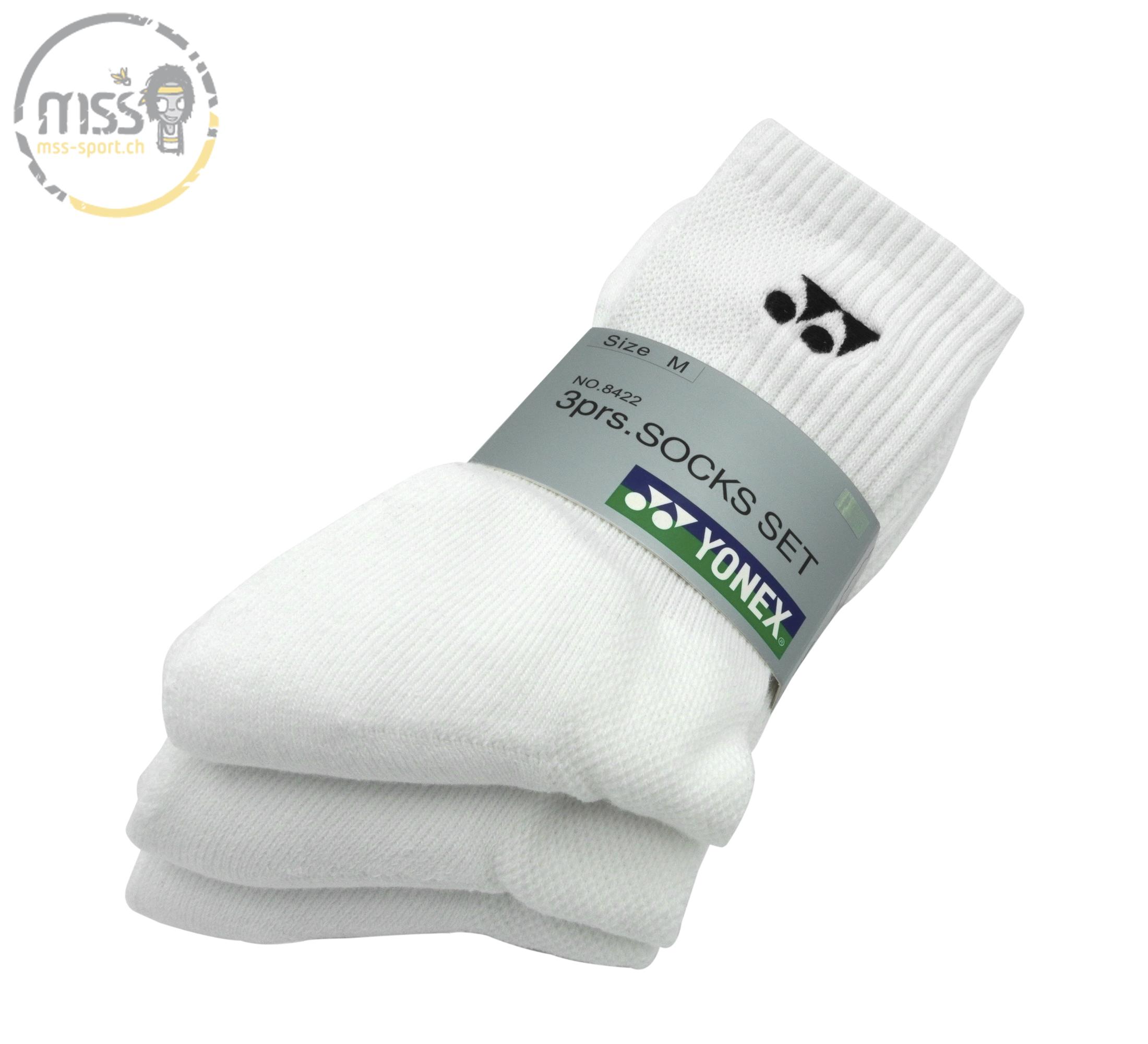 Yonex Sock long 8422 white 3 Pack 40-45