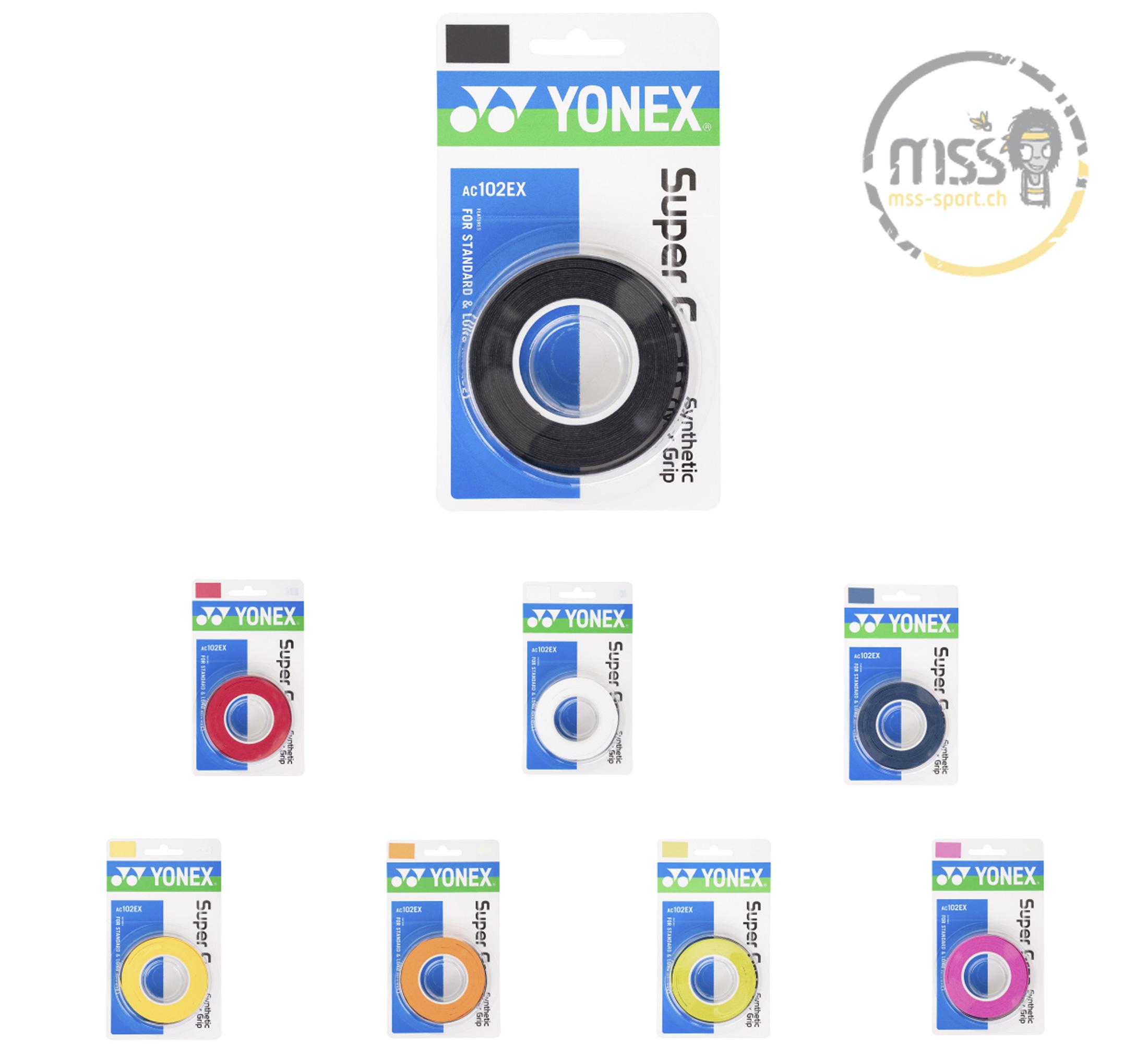 Yonex Super Grap AC102EX 3er Pack