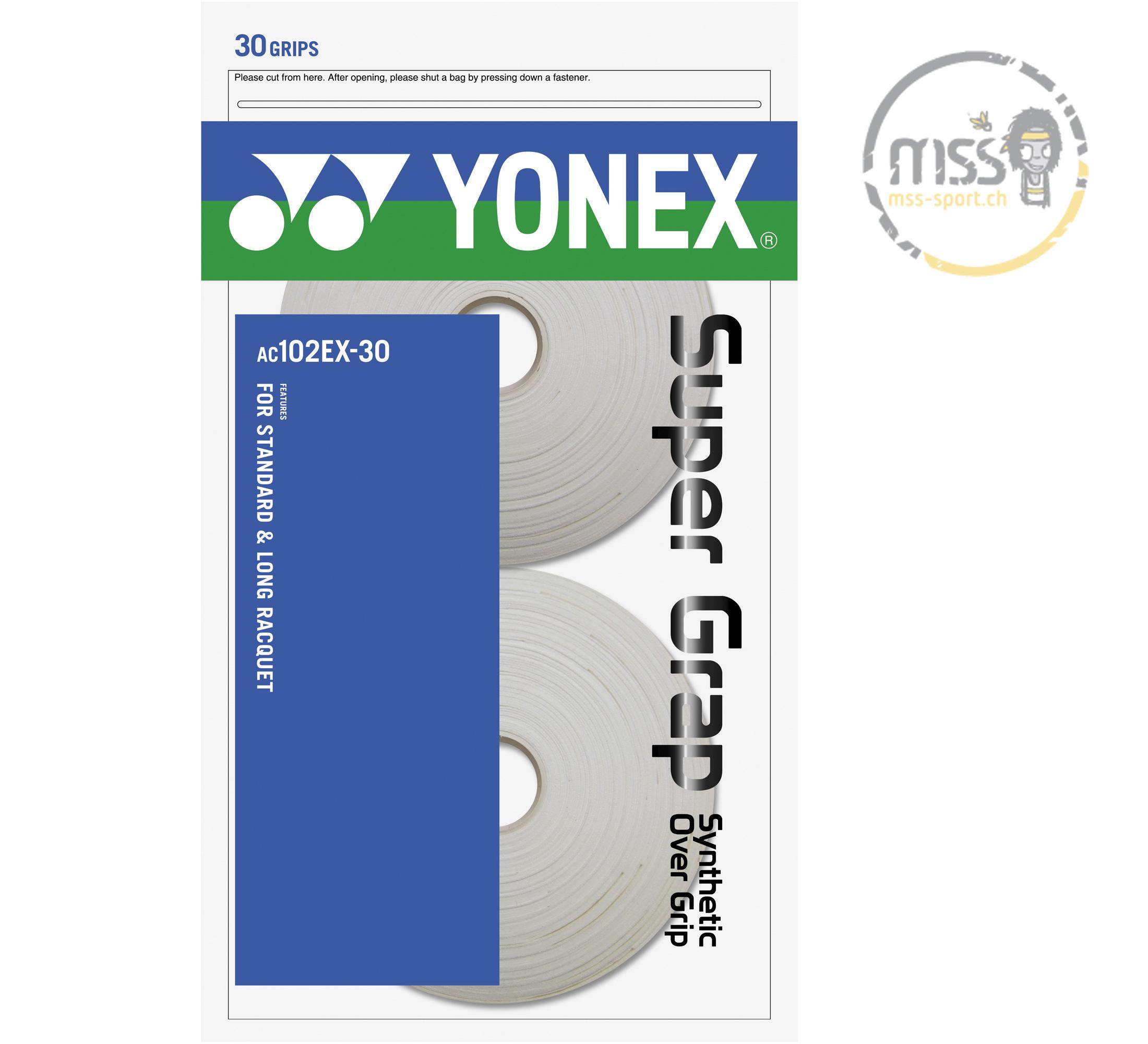 Yonex Super Grap AC102EX-30 white 30er Rolle