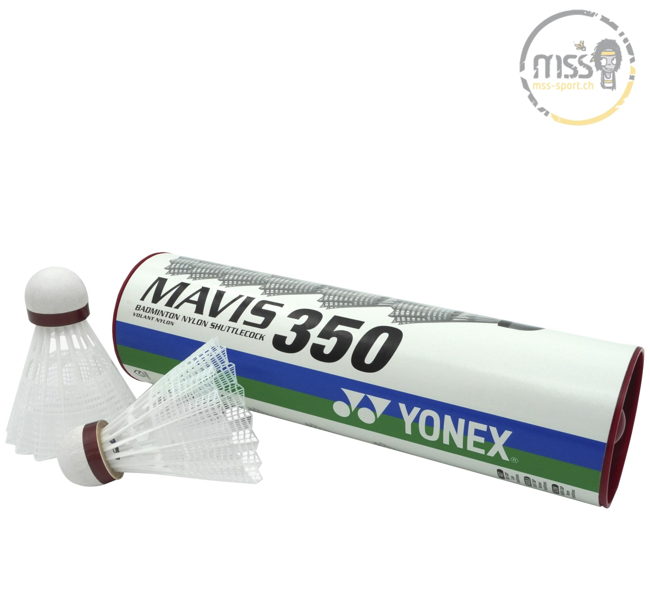 Yonex Mavis 350, white/red